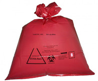 Red Biohazard Autoclave Bag w/indicator