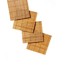 Set of 4 Bamboo Roll-up Placemats