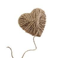 Natural Rope Heart