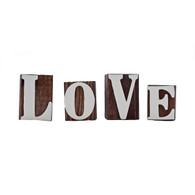 LOVE Woodcut Letters