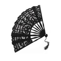 Victorian Style Black Lace Parasol