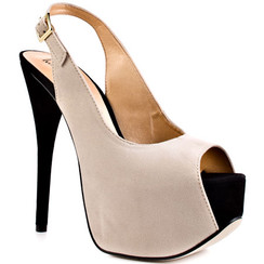 Luichiny Too Much Fun Beige & Black Platform Sandals