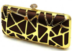 Gold Abstract Clutch
