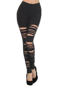High Waist Black Slasher Leggings