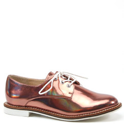 Luichiny Lucky Girl Rose Gold Oxford Flats
