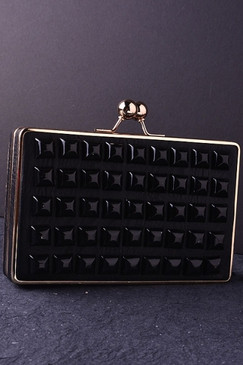 Black Cubic Clutch