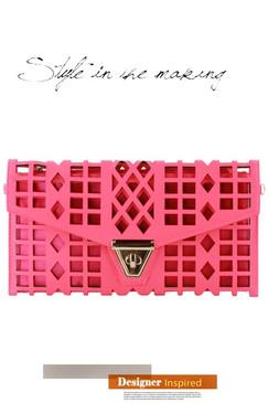 Pink Cutout Clutch