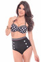 Model Info:  5 ft 6 inches tall, waist 25 in, hips 34 in, chest 34B, wears size medium
