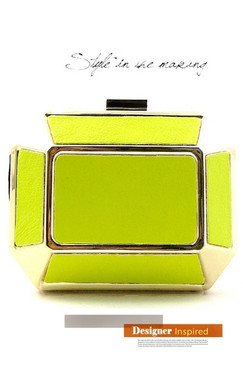 Yellow Hipster Clutch