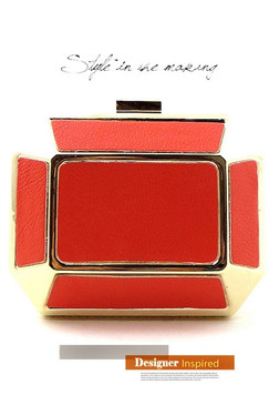 Coral Hipster Clutch