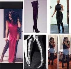 Zigi Girl Piarry Black Suede Thigh High Boot