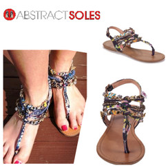 Zigi Soho Aada Black Multi Flat Sandals