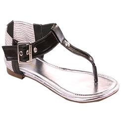Bella Rr- Steno Black Sandals