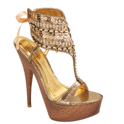 Celeste Sl- Jucci Gold Sandals
