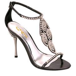 Celeste Sl- Crystal- 05 Black Dressy Evening Sandals