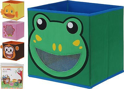 Kids Fabric Storage Boxes Collapsible Childrens Toy Box Room Tidy