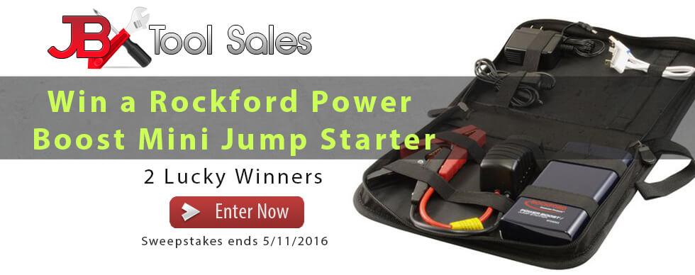 Win a Rockford 8500 Mini Jump Starter