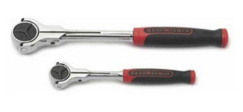 """Gearwrench 81223 2 Piece Cushion Grip Roto Ratchet Set 1/4"""" And 3/8"""""""