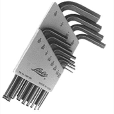 "Lisle 42150 Hex Key Wrench Set 12 Piece, .050"" to 5/16"""