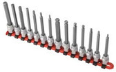 "Sunex Tools 9921 14 Piece 3/8"" Drive Long Metric Ball Hex & Hex Socket"
