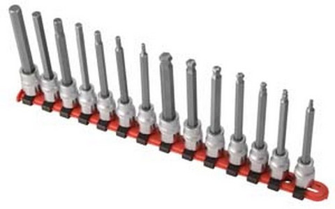 "Sunex Tools 9921 14 Piece 3/8"" Drive Long Metric Ball Hex & Hex Socket"