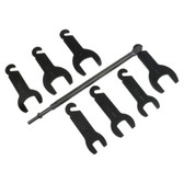 Lisle 43300 Pneumatic Fan Clutch Wrench Set 8 Piece