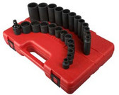 Sunex Tools 3326 25 Piece Impact Socket Set 3/8 Drive 12 Point Deep/Shallow