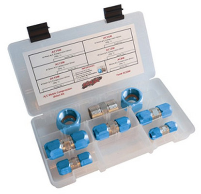 S.U.R & R AC90M Metric Ac Compression Block Off Kit