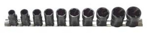 "H.B. Products TSFS5010B 10 Piece 1/2"" Drive Sae Turbo Socket Set"