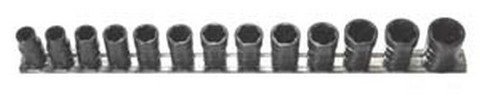 "H.B. Products TSCS3813B 13 Piece 3/8"" Drive Shallow Turbo Socket Set Sae And Met."