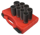 Sunex Tools 2835 12 Point 8 Piece Spindle And Axle Socket Set