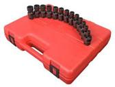 Sunex Tools 3691 13 Piece 3/8 Drive 12 Point Flex Impact Socket Set Metric