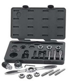 Gearwrench 82808 17 Piece 1/2 Drive Extension Set Sae For Tap And Die