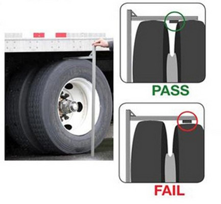 """Innovative Products Of America 9067 A """"Go/No Go"""" Tire Caliper For Dual Tire Pairing"""