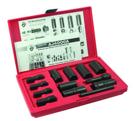 Ken Tool 30171 13 Piece Deluxe Lug Wheel Lock Removal Set