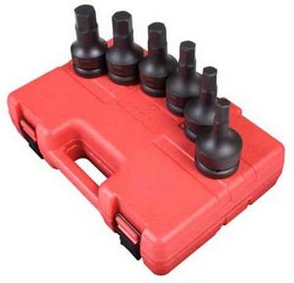 "Sunex Tools 5607 6 Piece 1"" Drive Metric Impact Hex Set"