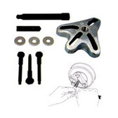 Lisle 45350 Retrofit Kit with 3 Special Bolts and Adapter for GM