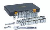 "Gearwrench 80700P 49-Pc 1/2"" Drive Sae/Metric 6 Pt Standard & Deep Socket Set"