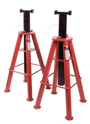 Sunex Tools 1410 10 Ton High Height Pin Type Jack Stands (Pair)