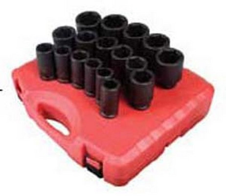 Sunex Tools 4686 3/4 Drive 17 Piece Metric Deep Impact Socket