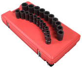 "Sunex Tools 5693 1"" Drive Deep 21 Piece Sae Impact Socket Set"