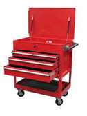 Sunex Tools 8054 Premium 4 Drawer Service Cart -Red