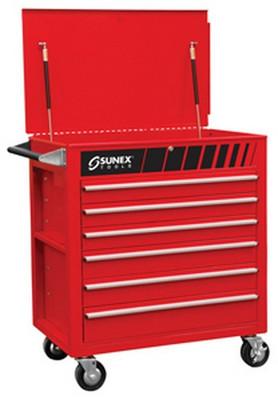 Sunex Tools 8057 Premium Full Drawer Service Cart - Red