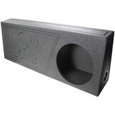 "Qpower QBTRUCK112V Single 12"" Ported Spl Empty Woofer Box W/Bedliner Spray"
