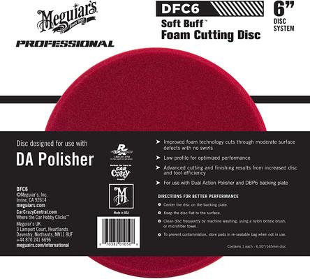 """Meguiars DFC6 6"""" DA Foam Cutting Disc"""