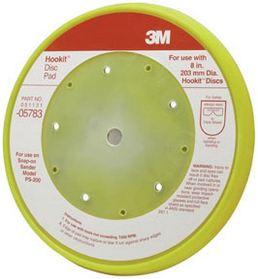 3M 5783 Hookit™ Pad D/F, 8 in x 5 bolt hole
