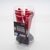 "EZ Red MS60010PK 6"" Razor Scraper Display Jar"