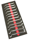 EZ Red SSWM Ez Edge Swivel Socket Wrench Set 12 Pc. Metric 75° Offset
