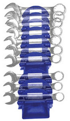 EZ Red WR1000B Wrench Rac Magnetic Wrench Organizer - Blue