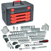 "GearWrench 80935 Master SAE/Metric 6 and 12 Point 1/4"", 3/8"" and 1/2"" Drive Mechanics Tools Set, 225pc"